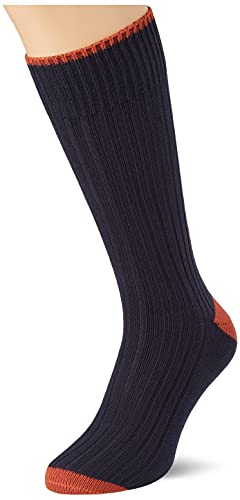 Hackett London Mens Chunky Toe und Heel Socks, 595NAVY, ML