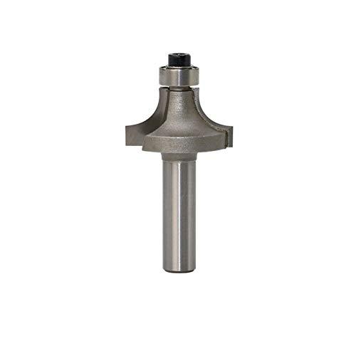 Zxxin-broca de fresa, 3mm Shank Round-Over Router Bits 2 Flauta Endmill con el rodamiento de la esquina del cortador de fresado redondeado sobre el bit, 3pc, Accesorios ( Cutting Edge Length : NO1 )