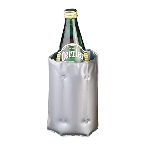 EUROXANTY Kühlmanschette für Weinflaschen | Weinkühler zum Einfrieren | Flaschenkühler-Manschette | Kühlmanschette mit Klettverschluss