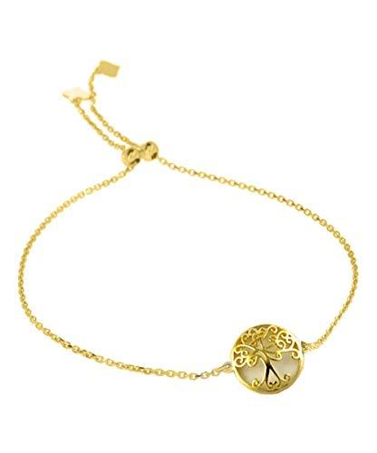 Verona Jewelers - Pulsera ajustable para mujer, plata de ley, árbol de la vida