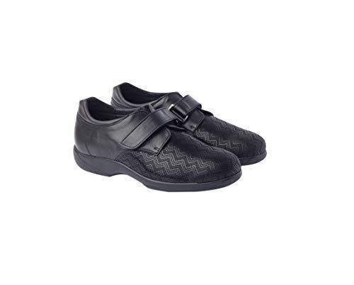 Calzafarma - Mod.14108 - Zapato de señora con Pala Elástica Ideal para juanetes y deformaciones, Aptos para Utilizar con Plantillas ortopédicas. (40) ✅