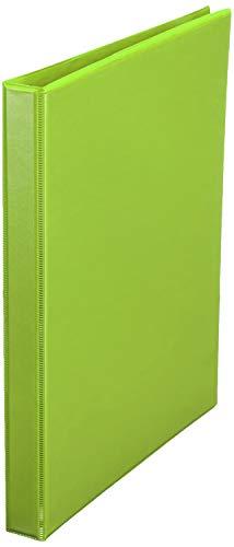 Amazon Basics 1/2 Inch, 3 Ring Binder, Round Ring, Customizable View Binder, Green, 12-Pack
