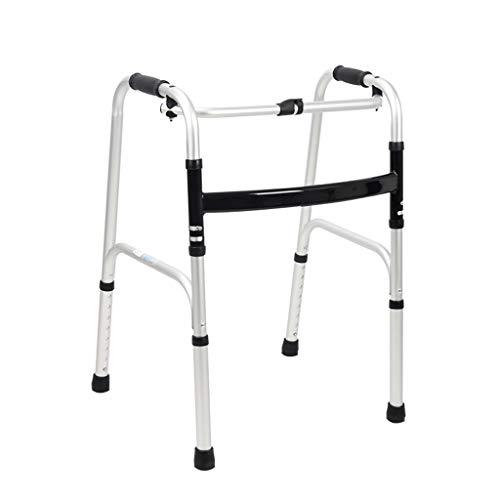Andador Plegable, Ajuste de Altura de Bastidor Portátil de Aluminio Para Caminar 8 Pasos Para el Andador de Edad Avanzada con Soporte Antideslizante Para Pie 400LB, Adecuado Para Personas Discapacit