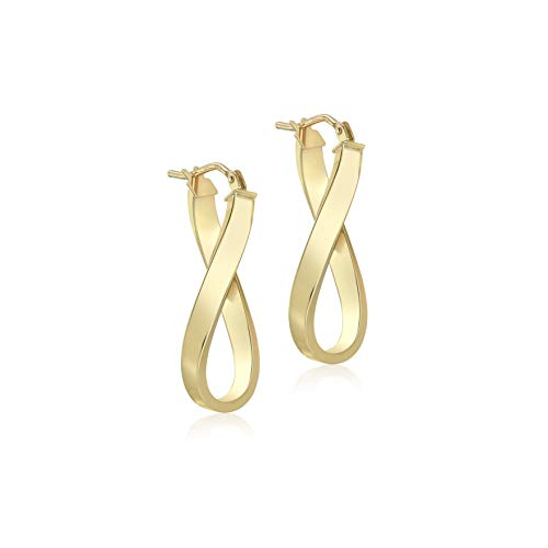 Carissima Gold Women's 9 ct Yellow Gold Twist Oval Hoop Creole Earrings