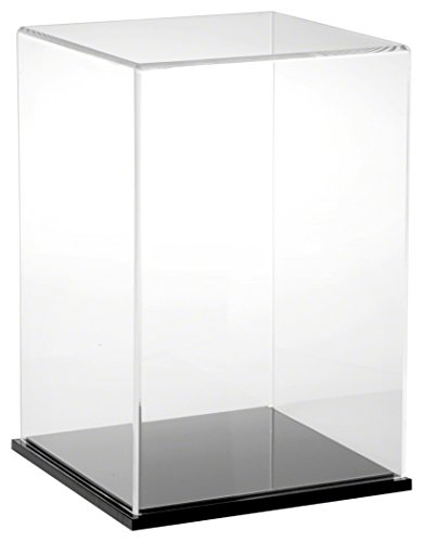 Plymor Clear Acrylic Display Case with Black Base, 8' W x 8' D x 12' H