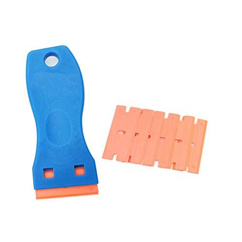 Aufkleber Schaber Kunststoff Auto Folie Werkzeug Kit zum Entfernen von Etiketten Reinigen Fenster leicht blau