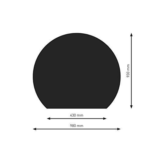 Schindler + Hofmann PU075-2B7-sw Bodenplatte B7 Kreisabschnitt schwarz pulverbeschichtet 980 x 930 mm