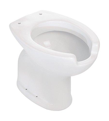 'aquaSu® Stand-WC Komfort | Behindertengerecht | Weiß | Tiefspüler | Abgang innen senkrecht