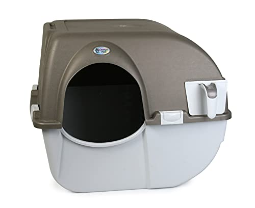 Omega Paw Roll 'n Clean Self Cleaning Litter Box Regular Size...