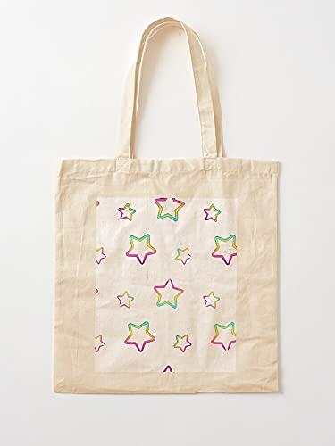 Générique Pattern Over Stars Neon Rainbow All Star   Bolsas de lona...