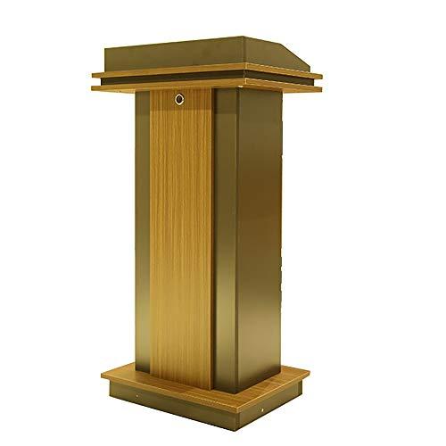 TnSok Stehendes Podium Stehen Katheder Impromptu Podium Workstation Speech Desk for Schule Und Gesellschaft Tagungsraum (Color : Brown, Size : 114x60x45cm)