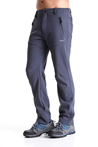 Clothin Men's Softshell Fleece-Lined Cargo Pants - Warm, Breathable, Water-Repellent,...