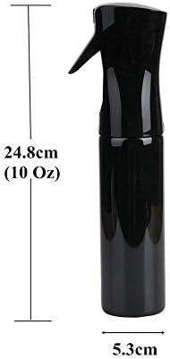 Vaporisateur de brumisation fine en plastique - Noir - 283,5 g