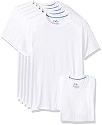 Hanes Men's 5-Pack X-Temp Comfort Cool Crewneck Undershirt, White, Large from Hanes