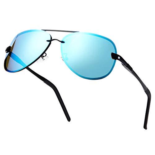 MUCO Deportes Polarizados Gafas De Sol Para Hombres Gafas De Conducción HD Mujeres Lente De Espejo De Metal Gafas De Sol De Protección UV 400 Con Caja