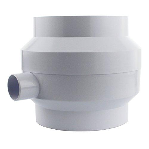 MKK - 18397-002 - Kondenswasserabscheider Kondenswassersammler Ø 100 Ø 125 weiß Rundrohr Abluft Ø 125 mm