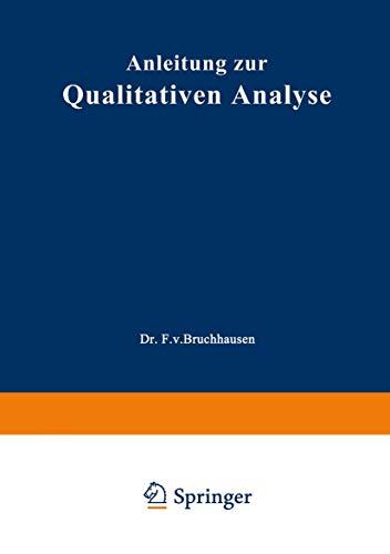Anleitung zur Qualitativen Analyse (German Edition)