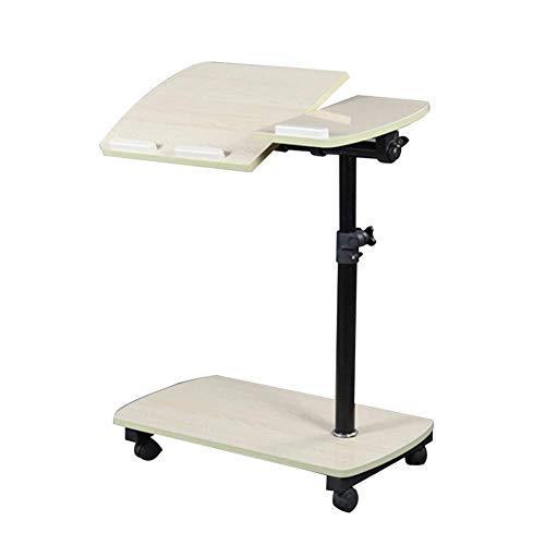 ZND Draagbare Laptop Stand voor Bureau Sofa bijzettafel met Pulley de Desktop Kan worden gekanteld, Hoge 65-95Cm aanpassing, 2 Kleuren