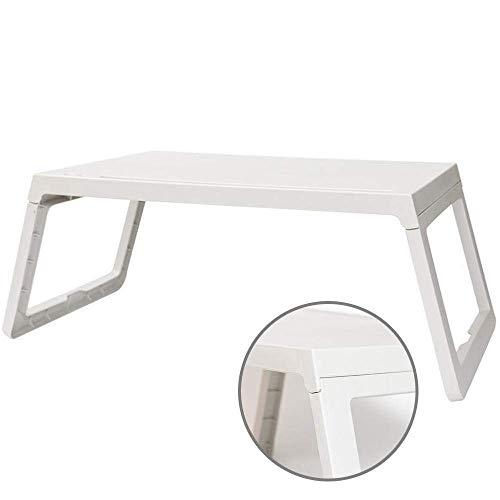 1yess Plastique Pliante Table, Style Simple Coins arrondis de Bureau, Longue Fente de Carte, Fente Pen for iPad, téléphone, Convient for Chambre, Extérieur 8bayfa