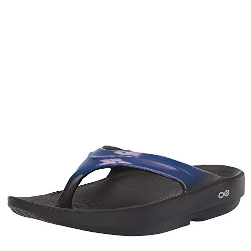 OOFOS - Women's OOlala - Post Exercise Active Sport Recovery Thong Sandal - Jet Blue - W10