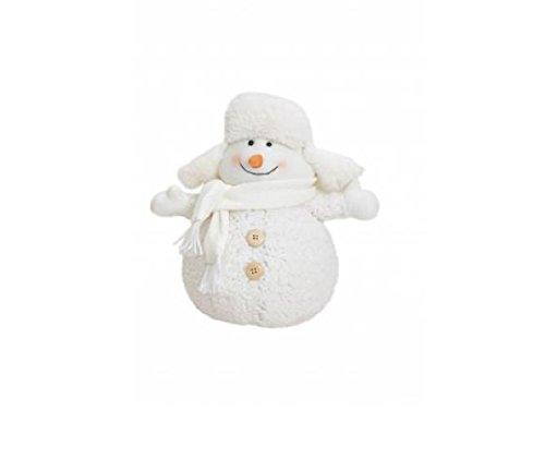 Exner sneeuwpop – decoratie – decoratief figuur– pluche textiel ca. 23 x 17 x 28 cm. Oormuts