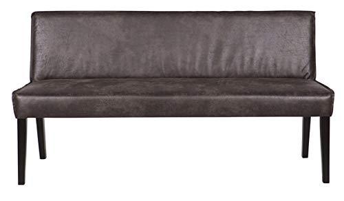 PEGANE Banc Coloris Noir, H 830 x L 1560 x P 610 cm