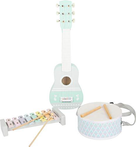 Small Foot Small foot-11685 Musica Pastel,, Instrumentos Musicales. Set de 3, con partituras, a Partir de 3 años de Edad. Toys (11685)