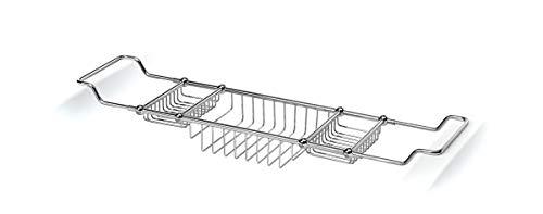 Lineabeta 52924.29 Pont de Baignoire Extensible, Argent