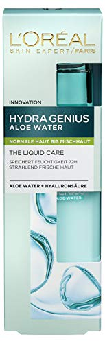 L'Oréal Paris Hydra Genius Feuchtigkeitspflege, mit Hyaluronsäure und Aloe Water für Normale bis Mischhaut, Intensive Feuchtigkeit und ein geschmeidiges Hautgefühl, 70ml