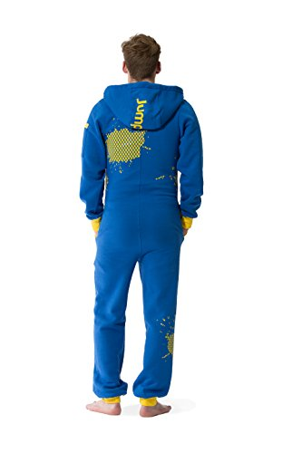 Jumpster Herren und Damen Jumpsuit Langer Overall First G. Regular Fit Blau - 2