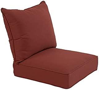 allen + roth Sunbrella 2-Piece Canvas Chili Deep Seat Patio Chair Cushion