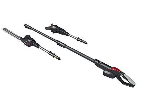 Mountfield MMT 20 Li Multi-Tool, 55 cm Telescopic Shaft, 20 cm Pruner (150 W), 25.5 cm Hedge Trimmer (200 W), 20 V (4 Ah) Battery, Battery and Charger Included