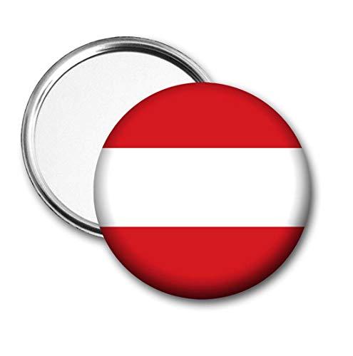 Oostenrijk Vlag Pocket Spiegel voor Handtas - Handtas - Gift - Verjaardag - Kerstmis - Stocking Filler - Secret Santa