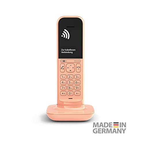 Gigaset CL390HX Universal Mobilteil - Design Telefon kompatibel mit Fritzbox und HD Voice Freisprechfunktion - schnurloses DECT Telefon mit großem Grafik Display, Cantaloupe