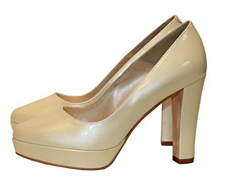Fiarucci Zapatos de Novia de tacón Alto, Zapatos de Boda, Salma Marfil,...