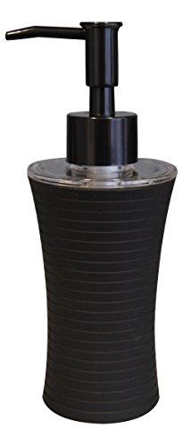 Grund z22200510 Tower Distributeur de Savon 7 x 7 x 18,5 cm Noir Accessoires, 100% Caoutchouc Enduit Polypropylène, 7 x 7 x 18,5 cm