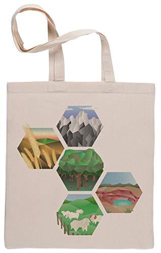 Capzy Ingénieux Sac à Provisions Réutilisable Shopping Bag Beige