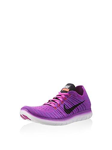 Nike WMNS Free RN Flyknit, Women's Running Shoes, Blue (Hypr Vlt / Blk-Ttl Crmsn-Lsr Orn), 4 UK (37.5 EU)