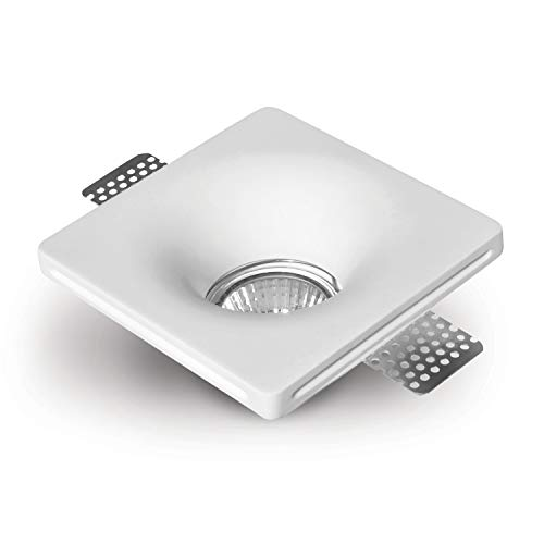 LED Einbaustrahler aus Gips OTTO Weiss Inkl. 1 X IP20 Deckenstrahler Einbauleuchte Deckeneinbaustrahler Deckeneinbauleuchte Deckenspot, 1 X Fassung GU10 - ohne Leuchtmittel