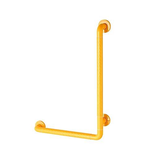 GWFVA Badkamerleuning L-vormig douchescherm voor ouderen Handicap Toegang voor gehandicapten Universele veiligheidsproducten Antislipgreep (kleur: wit, afmeting: 70 * 70 cm)