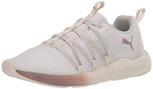PUMA Women's Prowl Alt Sneaker, White-Rose Gold, 7 M US
