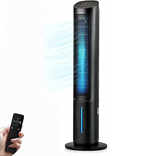 cx-kzw Ventilador de la Torre del humidificador de Aire, refrigerador de Aire, Ajuste de 3 velocidades, Ventilador de Piso sin Hojas, Oscilación de 80 °, Control Remoto/táctil