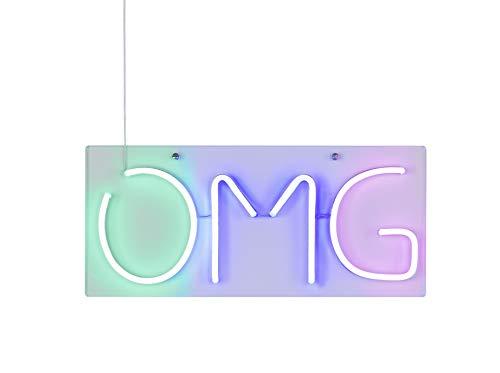 Wofi Wandleuchte OMG, Neonlicht, LED, 4W, IP20, Weiß, Pink, Blau, Grüninklusive Leuchtmittel