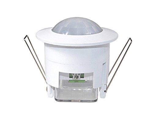 Maclean MCE20 - Detector Sensor de movimiento de techo empotrable 360º