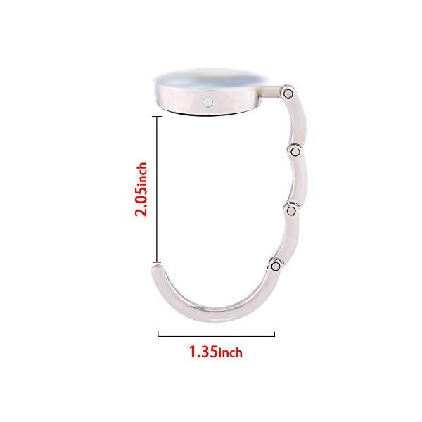 JISEN Portable Handbag Hanger Table Bar Purse Instant Swivel Top Hook