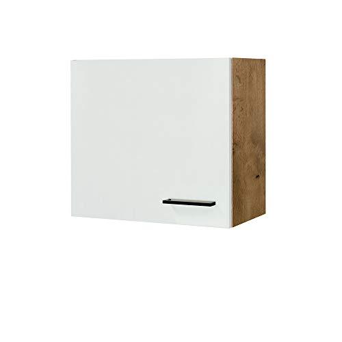 MMR Küchen-Hängeschrank GLASGOW - Küchenschrank - Oberschrank - 1-türig - 60 cm breit - Creme Matt