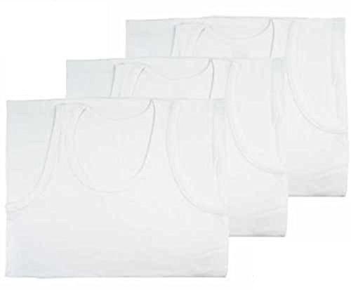 FF11 Lot de 6 débardeurs pour homme 100 % coton Blanc - Blanc - Medium