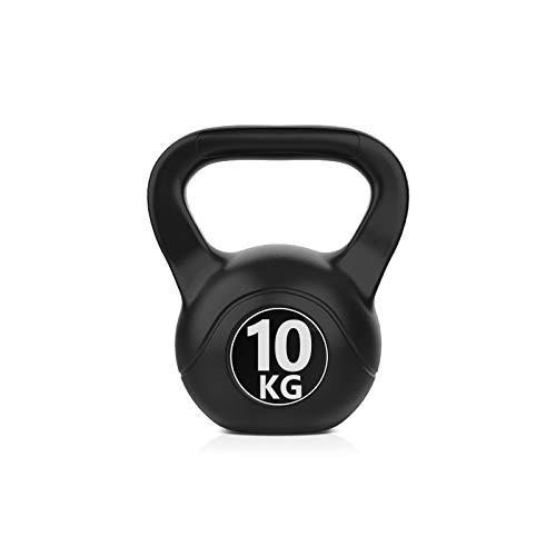 HomeMagic Kettlebell 6-10 kg inkl. Workout I Kugelhantel in versch. Farben und Gewichten I Bodenschonende Schwunghantel (3)