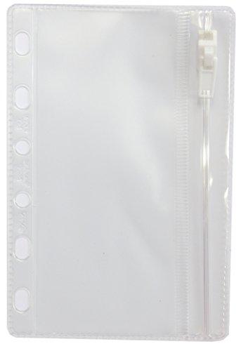 Filofax 213618 Pocket Klarsichttasche mit Reißverschluss