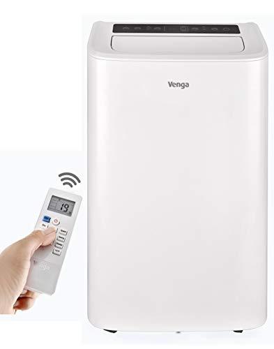Venga! Tragbare Klimaanlage, 12000 BTU, mit Kühl-, Lüfter- und Entfeuchtungsmodus, Schlaf- und 24-Stunden-Timer-Funktionen, 3 Lüftergeschwindigkeiten, 1337 W, Weiß, VG ACM 3000 [Energieklasse A]